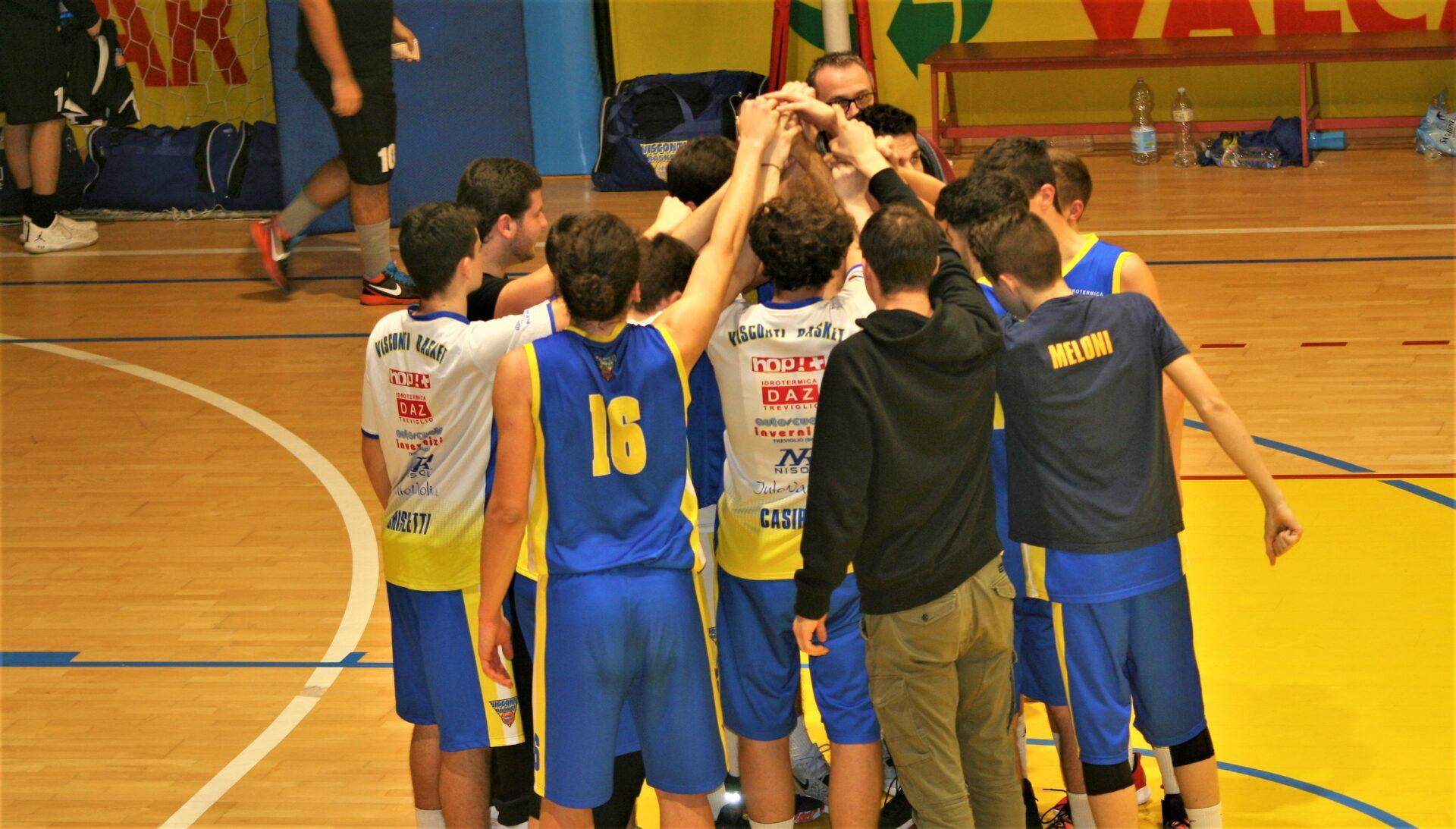 U18M: BK ALTO SEBINO – VISCONTI BASKET:  71 – 76 dts
